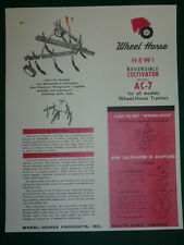 VINTAGE 1962 WHEEL HORSE AC-7 CULTIVATOR for TRACTORS SPEC SHEET SALES BROCHURE