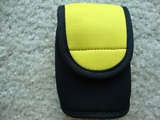 Camera Neoprene Case Sleeve Pouch  with BELT slide: Yellow NEW