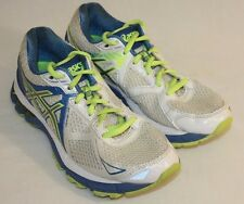 Asics GT 2000 Womens Ladies White Blue Neon Green Running Sneakers Shoes Sz 6.5M