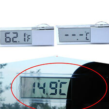 Interior Transparent Thermometer Fahrenheit Celsius Windshield Digital For Benz