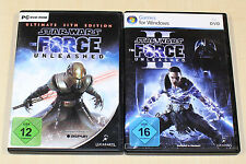 2 giochi PC Bundle-STAR WARS-Force Unleashed I & II Ultimate Sith Edition