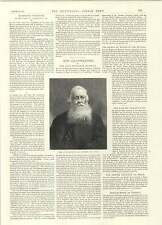 1892 Late Prof E A Freeman Oxford Chat With Mr Whistler