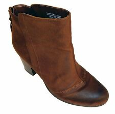 Bar Iii Jillian Womens Leather Fashion Ankle Bootie Boots Brown Size 6.5