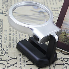 Multi-function Magnifying Glass Folding Stand LED Light-Best Hand Held