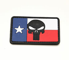 Morale Patch - Special Ops Gear - TEXAS PUNISHER Skull - Full Color - PVC