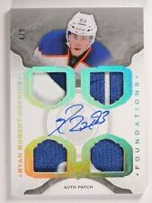 14-15 UD The Cup Ryan Nugent-Hopkins foundations autograph patch #D4/5 *50503