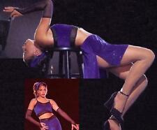 Silhouette Dance Costume Purple Glitter Velvet Skirt Top Tap Ice Skate Adult XL