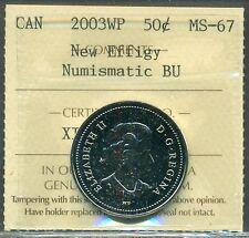 Canada 2003WP 50 cent New Effigy ICCS MS-67 NBU