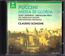 Claudio SCIMONE: PUCCINI MESSA DI GLORIA Jose CARRERAS Hermann PREY CD Erato 84