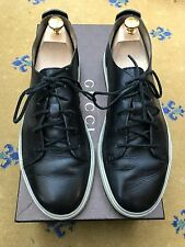 Gucci Mens Shoes Black Leather Trainers Sneakers UK 9 US 10 EU 43 Crest