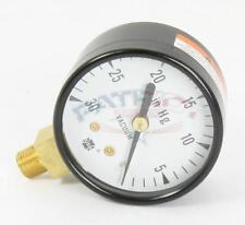 """Crown 41402 Vacuum Gauge 0 To 30"""" Hg 1/8"""" NPT Bottom Mount 2"""" Dial"""