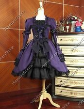Victorian Gothic Ruffle Lolita Dress Cosplay Theater Steampunk Clothing 233 XL