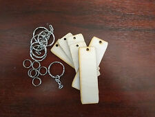 Birch ply wooden key ring blanks pyrography craft blanks PACK OF 6