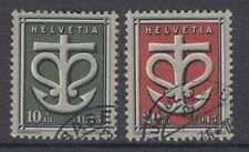 SWITZERLAND:1945 War relief Fund set   SG445-6 used