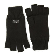Adults Thinsulate Fingerless Gloves One size Black