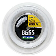 YONEX BG65 200M COIL BADMINTON STRING WHITE COLOUR