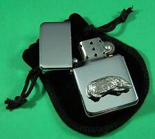HEDGEHOG Petrol Lighter in Pouch Free UK Post Animals, Nature, Wildlife