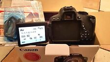 Canon EOS 700D / Rebel T5i 18.0MP Digital SLR Camera - Black (Body only) - Boxed