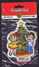 LMH PATCH Badge  1995 CAMPBELL SOUP KIDS  Christmas Xmas TREE TRIMMING  Santa