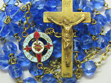 "†  HTF VINTAGE UNIQUE ENAMELED ""CRUSADE OF IMMACULATE HEARY MARY"" IHM ROSARY †"