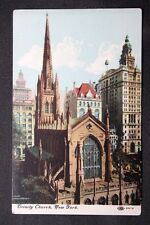c.1910 Postcard Exterior View of the Trinity Church in New York IPCN Co. 96-2