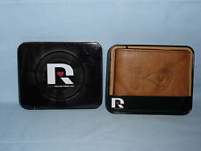 St Louis (now LOS ANGELES) RAMS  Leather BiFold Wallet NIB New in Tin Box  brown
