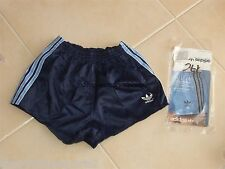 NEU Vintage Shorts Adidas Junior Star (164) Blau Nylon Sprinter West Germany NOS