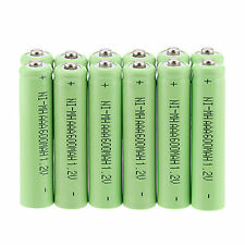 Lot of 12Pcs AAA 3A 1.2 V 600mAh NI-MH rechargeable battery Green Color