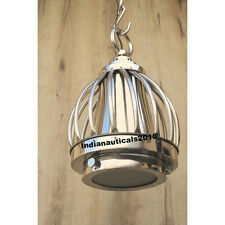 Vintage Chrome Nautical Ceiling Pendant Hanging Light Lamp Home  Decor