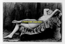 rp4090 - Young Nude Woman laying on a Tiger Skin - photograph