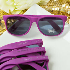 60 - Personalized Purple Sunglasses - Beach Themed Wedding Party Favor