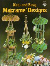 New and Easy Macrame Designs Vintage Pattern Book NEW 1979 Plant Hangers Wreath