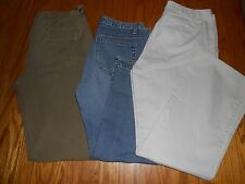 LOT OF 3 WOMENS GAP CROPPED JEANS, J CREW CARGO PANTS GAP KHAKIS SZ 6