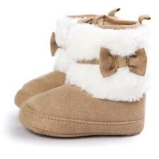 Baby Girl Bowknot Soft Sole Warm Snow Boots Soft Crib Shoes Toddler Boots 11 N
