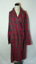 Womens Large Pajamagram Bath Robe Red Flannel Tartan Plaid Full Length