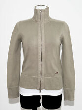 WOMENS NAPAPIJRI ZIP CARDIGAN JUMPER GREY SIZE S/M SMALL/MEDIUM VGC