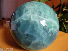 A++80mm +stand Glow In The Dark Stone crystal Fluorite sphere ball