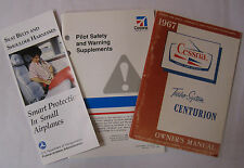 1967 Turbo-System Centurion Original Owner's Manual/Pilot Safety & Warning Book