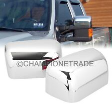 Pair Chrome Rear View Half Mirror Cover For 08-16 Ford F250 F350 F450 F550 CT