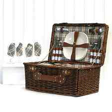 The Redgrave Picnic Basket | 4 Person Chiller Hamper | Birthday Gift Idea
