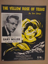 song sheet THE YELLOW ROSE OF TEXAS Gary Miller 1955