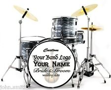 Miniature Drums Personalized Custom Wedding Cake Topper Rock Table Display Oyste