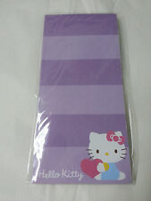 NEW Hello Kitty Memo Pad Purple Stripes 60 Sheets with Magnet