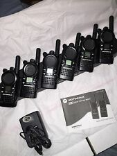 6 CLS 1410 2 Way Radios UHF with multi 6 unit gang charger
