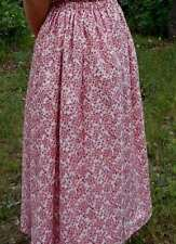 Ladies Skirt rose pink floral cotton long full modest M 10 12