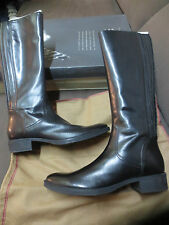 GEOX bottes Mendi leather noire NEUVE Valeur 199E Pointure 36,
