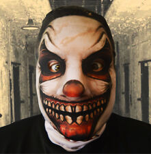3D EFFECT RIPPED GRIN KILLER CLOWN HEAD FACE SKIN LYCRA FACE MASK HALLOWEEN