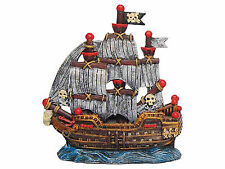 Pirate Ship with Sails Boat Shipwreck Aquarium Ornament Fish Tank Decoration