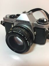 PENTAX ME SUPER 35mm SLR Film Camera with 50 mm Pentax-A 1:2 Lens Tested