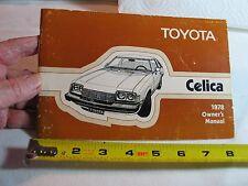 1978 78 TOYOTA Corolla Owners Operators Manual Book ~ORIGINAL